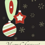 Cute vintage Christmas card, Vector illustration, 2012 — Stock Vector #8069815