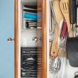 Stock Photo: Organized Kitchen Drawers