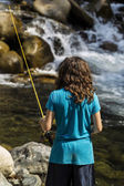 Fishing the Rapids — Stockfoto