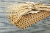 всего пшеницы спагетти — Стоковое фото