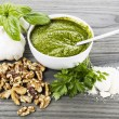 Homemade Pesto Sauce — Stock Photo