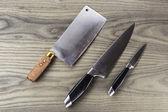 Primary Kitchen Knife Set — Stock Photo