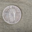 Silver Quarter Dollar - Frontal View — Stock Photo