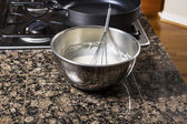 Pancake Batter in Bowl — Stock Photo