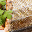 Closeup of Freshly Smoked Salmon — Stock Photo #13025094