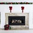 Holiday Fireplace — Stock Photo