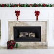 Holiday Fireplace — Stock Photo #13697899