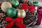 Seasonal Holiday Basket — Stock Photo