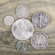 Vintage Silver Coins — Stock Photo