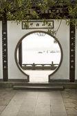 Arch Gateway Window to West Lake China — Stock Photo
