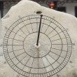Chinese Sun Dial in Stone - Stock Photo