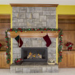 Glowing Fireplace for Holidays — Stock Photo #15312553
