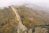 Gran muralla durante la temporada de otoño — Foto de Stock