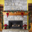 cozy warm fireplace for the holidays — Stock Photo #16868157