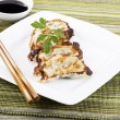 Pan Fried Chinese Dumplings — Stock Photo