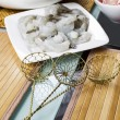 Wire Food Strainers for Dipping Meat into Hot Pot — Stock Photo
