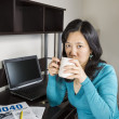 Income Tax Filing Coffee Break — Stock Photo