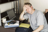 Personal Income Tax Stress — Stock Photo