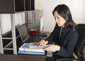 Professional Mature Woman Income Tax Accountant — Stock Photo
