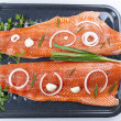 Stock Photo: Wild Salmon Fillets Ready for Baking