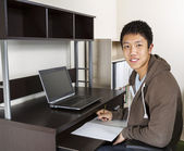Young Adult Man Studying for School — Stock Photo