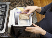 Packing Lunch into Carry Bag — Stock Photo