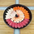 Assortment of Sushi in Round Plate — Stock Photo #18995577