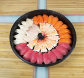 Assortment of Sushi in Round Plate — Stock Photo