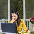 Mature woman working from Home Office  — Stock Photo