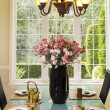 Formal Dining Room Setup for Tea and Snacks - Stock Photo