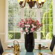 Stock Photo: Formal Dining Room Setup for Teand Snacks