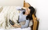 Mature woman not sleeping well — Stock Photo