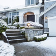 Walkway with Snow leading to Home  — Stock Photo