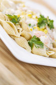 Fresh Pasta with healthy ingredients — Stock Photo