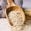 Rolled Oats in Wooden Spoon — Stock Photo #23932353