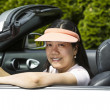 Mature woman having fun in Convertible Car — Stock Photo #25210927