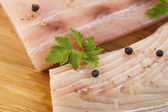 White Fish Fillets Seasoned for Cooking — Stock Photo