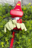Yard Tools and safety equipment ready for yard work — Stockfoto