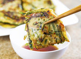 Korean Green Onion Pancakes Ready to Eat — Stock Photo
