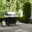 Outdoor cooker on House Patio — Stock Photo