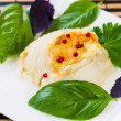 Stock Photo: Red Peppercorn on top of Stuffed Sole Fish