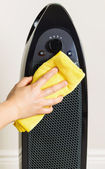 Home Air Purifier Being Cleaned — Stock Photo