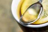 Honig und Zitrone Tee — Stockfoto