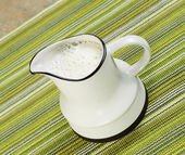 Pitcher of Soy Milk — Stock Photo