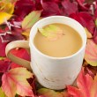 Seasonal Fall Coffee — Stock Photo