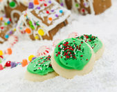 Frosted Holiday Cookies for the Season of Joy — Stock Photo
