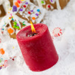 Holiday Candle for the Christmas Season — Stok fotoğraf