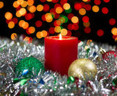 Candle for the Holidays — Stock Photo