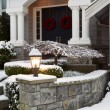 Front of Home during the Winter Holidays — Stock Photo