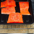 Stock Photo: Baking Salmon in Oven